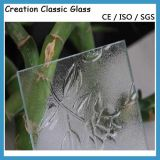 3-6mm Acid Etched Low-E Glass/Clear Bronze Pattern Glass