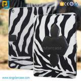 PU for iPad Air Leather Case, Hot Design Case for iPad 6, Zebra Pattern for iPad Air 2 Case for iPad 6
