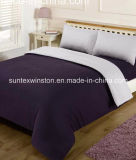 100% Polyester Microfiber Reversible Dyed Complete Sets Duver Cover Fitted Sheet Pillow Cases