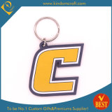 China High Quality Customized Logo Letter Shaped Soft PVC Key Chain for Promotion