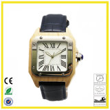 Hot Sell Leather Wood Watch for Men