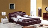 Brown Leather Bed Modern Bed