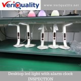 Desktop LED Light with Alarm Clock Quality Control Inspection Service in Shenzhen