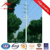 Medium Voltage 35m Hot DIP Galvanized Steel Utility Pole 1 - 30 mm Thickness