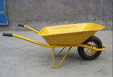 Yellow Metal Tray Garden Barrow Wheel Cart Wb6400