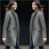 Plus Wool Thick Wool Dairy Coat for Woman′s Clothes