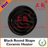 Black Round Shape Ceramic Heater
