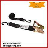 "2"" S-Hooks Cargo Ratchet Lashing Strap 2"" X 8′ Black"