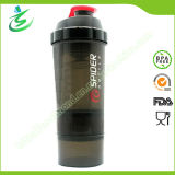 500ml Shaker Bottle with Pill Containers, BPA Free
