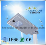 All in One Integrated 12W Solar LED Light for Street