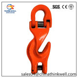 Painted Forged Steel Clevis Grab Hook with Half Ring