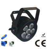 Ce Approved Compact RGBWA UV Stage Light LED PAR with Powercon Slim Aluminum Housing