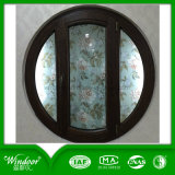 Rounded Shape Aluminum Wood Compand Window Design with Various Clours