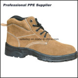Rubber Outsole Suede Leather Steel Toe Safety Footwear
