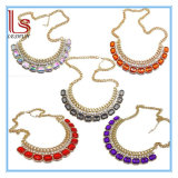 Fashion Women Jewelry Female Hot Sale Lady Acrylic Gem Necklace