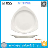 Hot Irregular High White Ceramic Banquet Plate