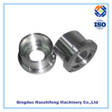 Stainless Steel CNC Machined Flange with Silver Anodizing Finish