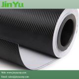 Self Adhesive Sticker / Bubble Free 3D Black Carbon Fiber Vinyl for Car Wrap