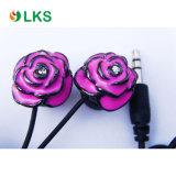 Flower Shape Earbud Rose Earphone for Mobile Phone