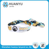 Woven Color Fabric Adjustable Wristband for Sports