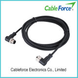 M12 5pin Male Right Angled Molded Cable Circular Connector with Cable Plug