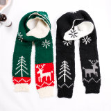 Wholesale Scarf Factory China Manufacturers Winter Knitted Scarf, Christmas Children Scarf Small Gift