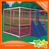 Pink Oblong Play Equipment Net Trampoline for Sale
