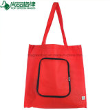 Custom Popular Non-Woven Foldable Bag Zipper Folding Shopping Tote