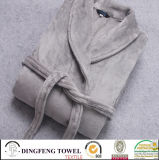Super Soft Solid Color Coral Fleece Bathrobe Df-8833