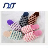 Soft Bottom Lovely Indoor Color Plaid Muffler Cotton Slippers
