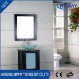 Wood Floor Standing Spanish Bathroom Vanity with Glass Basin