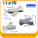 Hot Sale Swivel Metal USB Flash Drive with Keychain (EM001)