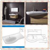 Left Side Cupc Ceramic Bathroom Cabinet Wash Basin (SN6044)