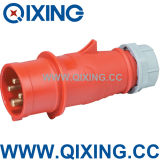 High Quality Plastic Material IP44 Industrial Plug Socket 380V 16A