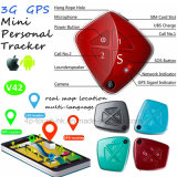 3G Portable Mini GPS Tracker Key Pendant with with Fall Alarm V42