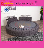 Wooden Elegant King Size Round Bed on Sale 6823