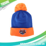 Reversible Winter Plain Knitted Beanies with Ball on Top (087)