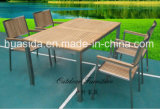 Teak Wood Table with 4 Chairs for Outdoor Dining