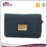 Fani Wholesale PU Wallet Blue Square Shape Women Wallet Clutch Purse for Lady