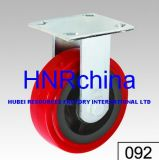 Red PU Heavy Duty Industrial Wheel Rigid Caster