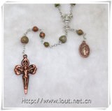 Wholesale Rosaries, Catholic Cheap Rosary Bead Chain Nutural Stones Agate Christian Rosary (IO-cr363)