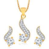18k Yellow Gold Jewelry Set with Diamond Micro Setting
