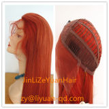 Long Colorful Natural Remy Chinese Human Hair Front Lace Wig