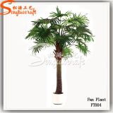 Ome Wholesale Ornament Decoration Artificial Fan Plastic Palm Tree