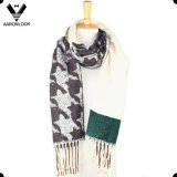 Popular New Design Houndstooth Pattern Woven Knitting Scarf