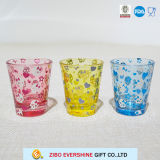 Foil Decal Printing Colorful Shot Glass with Gift PVC Box