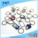 Fashion Gifts Zinc Alloy Blank Sublimation Metal Keyring
