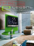 Modern Curved Glass TV Stand, TV Cabinet -T322