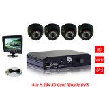 4-CH Digital Bus Driver Video Recorder 3G 4G GPS H. 264 SD Mobile DVR