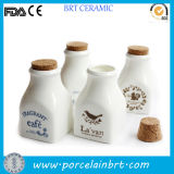 Squirrel Printing Mini Porcelain Milk Bottle with Cork